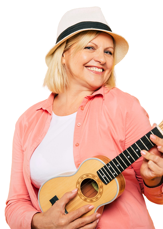 Woman with Ukelele